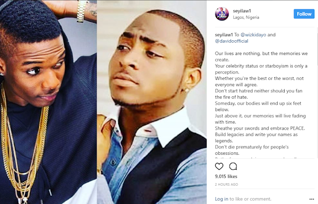 Seyi Law pens open letter to Wizkid and Davido
