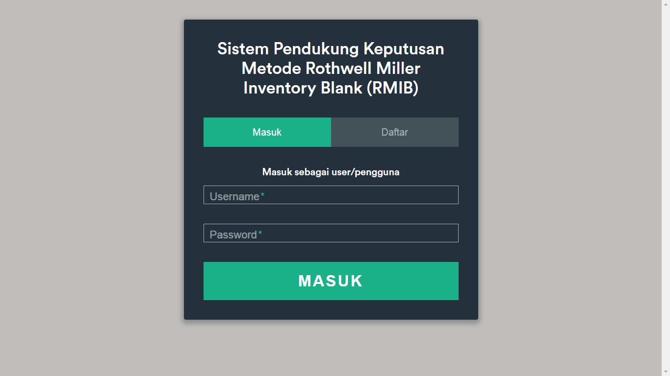 Aplikasi Sistem Pendukung Keputusan Penentuan Bakat dan Minat Menggunakan Metode Rothwell Miller Inventory Blank (RMIB) - SourceCodeKu.com