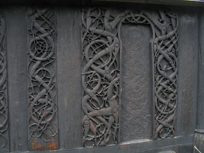 Urnes Stave Church Carvings By Eduardo CC BY-SA 2.0  via Wikimedia Commons