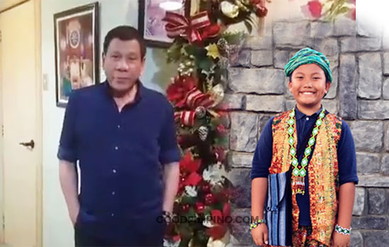 Pinoy boy Andre thanks Duterte for making video message for him