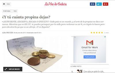 YES. La Voz de Galicia. Olga Casal