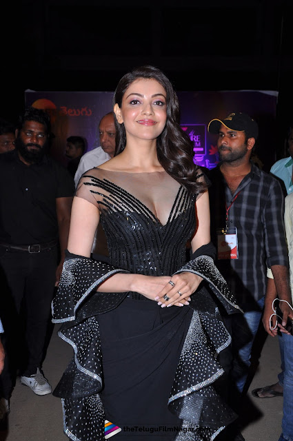 Kajal Agarwal looking absolutely Stunning At Zee Telugu Apsara Awards 2018 Red Carpet