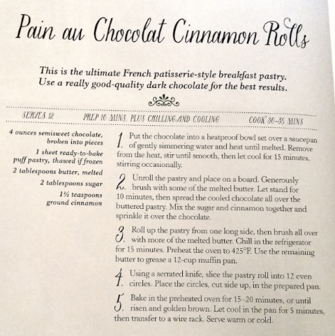 pan au chocolate cinnamon rolls recipe