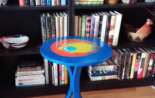 Blue Table as Functional Art