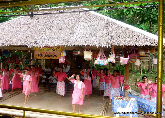entertainment while cruising at Loboc River Bohol
