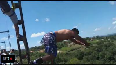 VÍDEO - Homem morre ao praticar bungee jumping em Mairinque (SP)