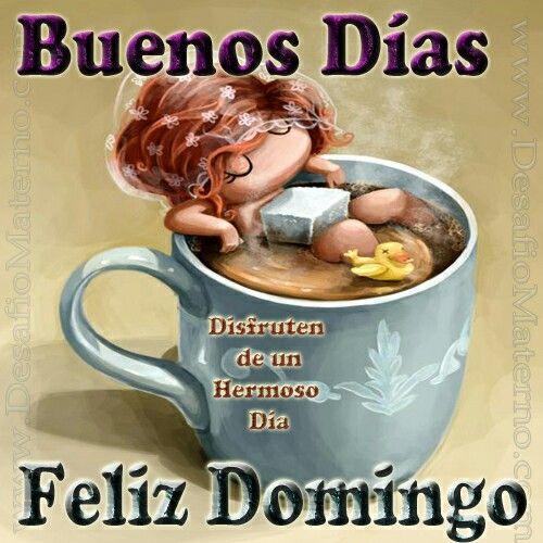 Buenos dias feliz domingo