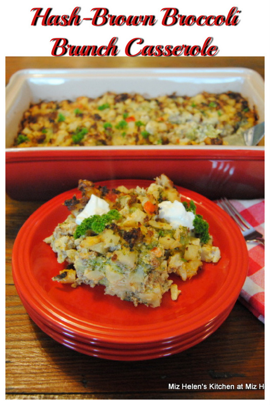 Hash-Brown Broccoli Brunch Casserole