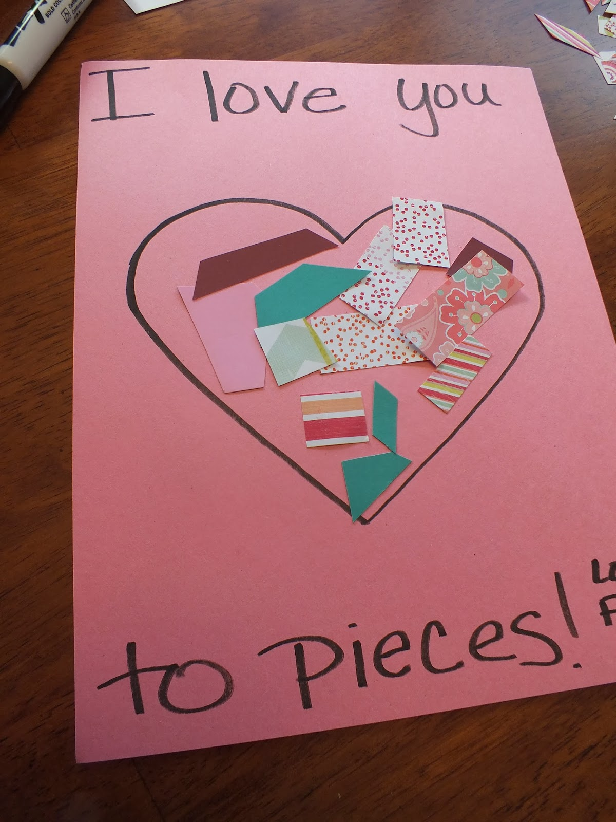 i love you to pieces craft you to pieces craft images 7793