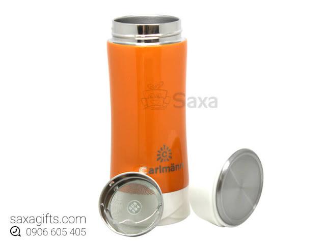 Bình giữ nhiệt in logo hiệu Carlmann có khay lọc trà 0.7 lít – BGN017
