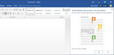 Office 2016 Co-Authoring Features