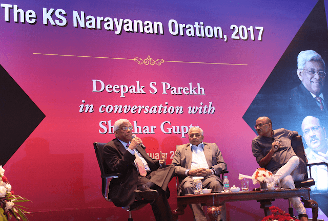 Mr. Deepak Parekh, Mr. N. Kumar,  Mr. Shekhar Gupta, in conversation