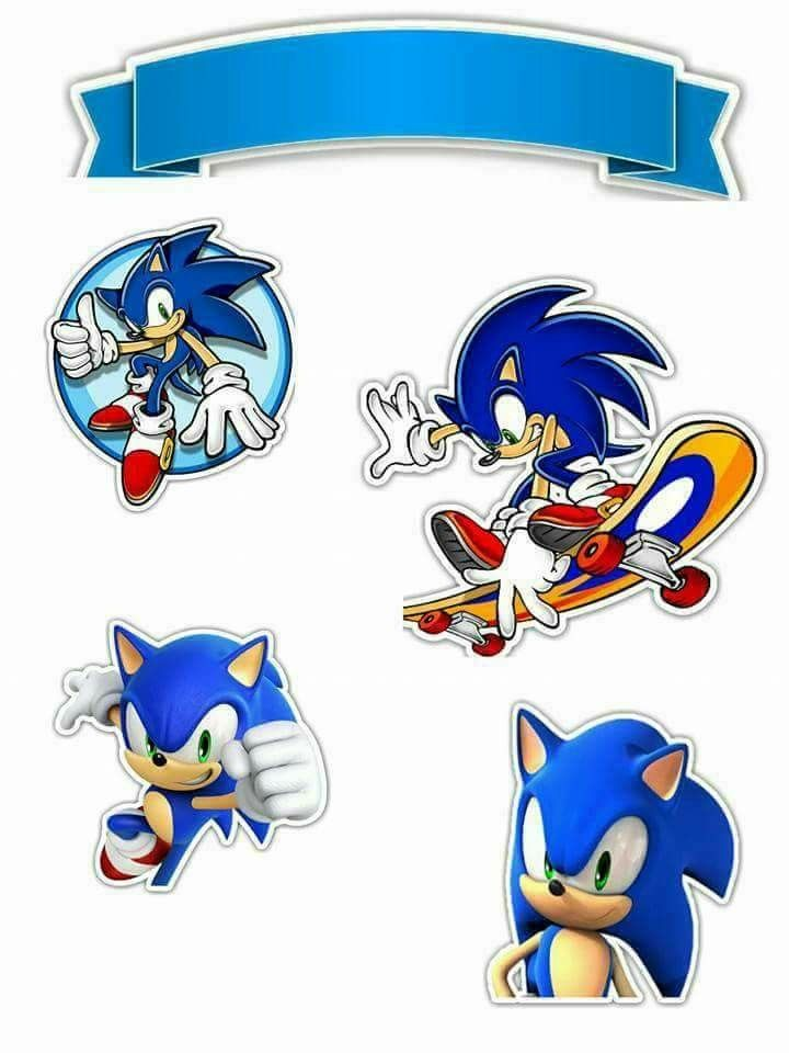 Sonic Free Printable Cake Toppers Oh My Fiesta For Geeks