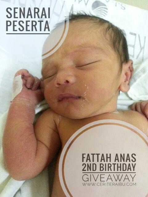 Peserta Fattah Anas 2nd Birthday Giveaway