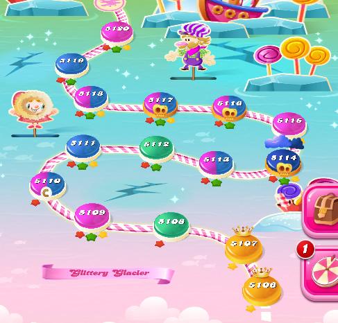 Candy Crush Saga level 5106-5120