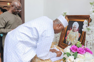 Bukola Saraki visits Dino Melaye to pass respects over the passing of his mother