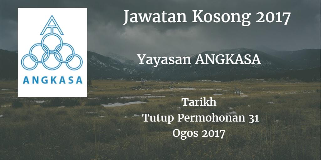 Jawatan Kosong YAYASAN ANGKASA 31 Ogos 2017