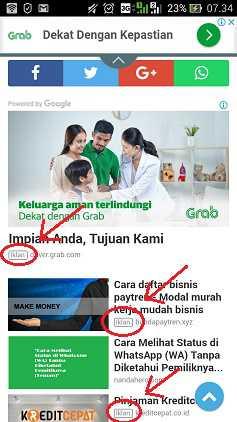 contoh jenis iklan matched content versi mobile