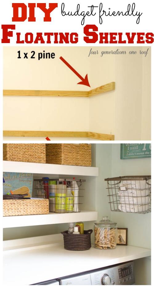 Floating shelves for the kids bathroom - Rachel Teodoro