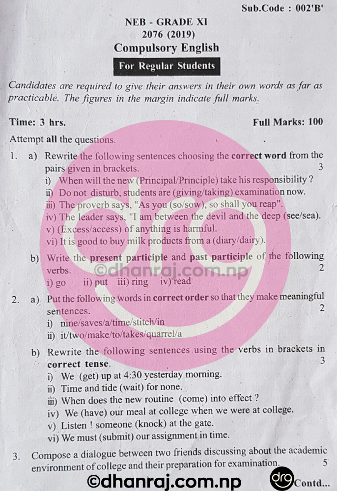Solved-Compulsory-English-Grade-XI-11-Question-Paper-2076-2019