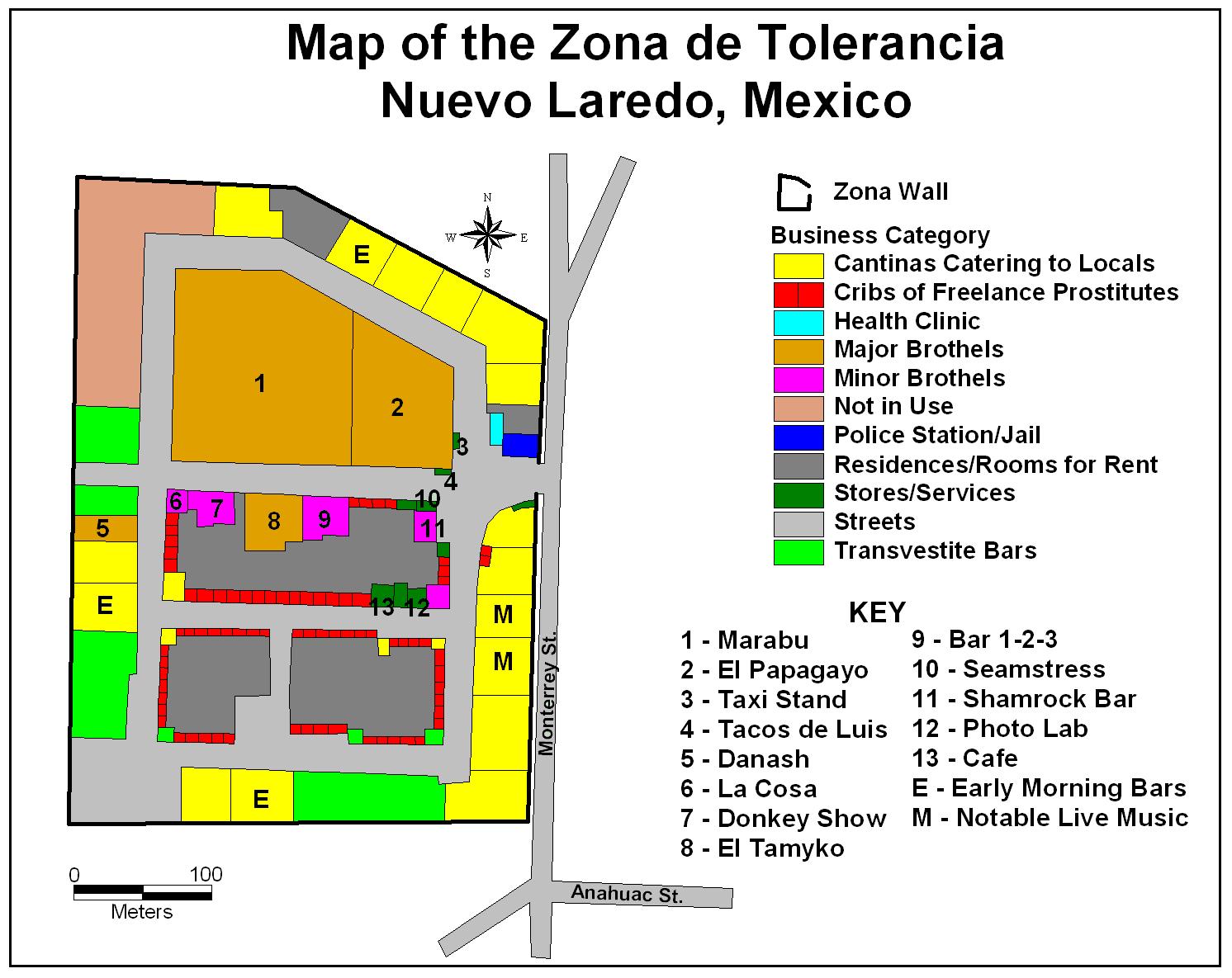 Cuando la Zona de Toleracia estaba en el sector centro de Nuevo Laredo