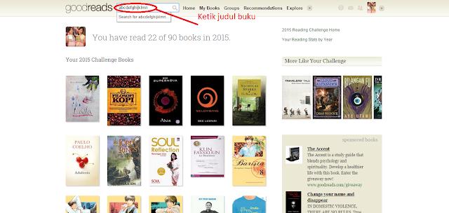 Searching sesuai judul, penulis, dan ISBN buku
