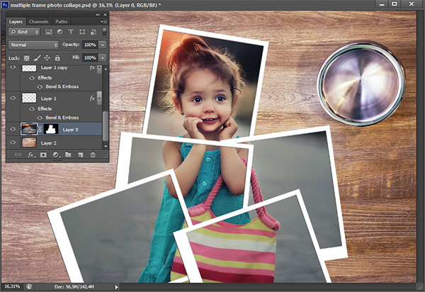 Picture Editing Multiple Frame Photo Collage In Photoshop