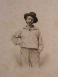 A portrait of Walt Whitman.