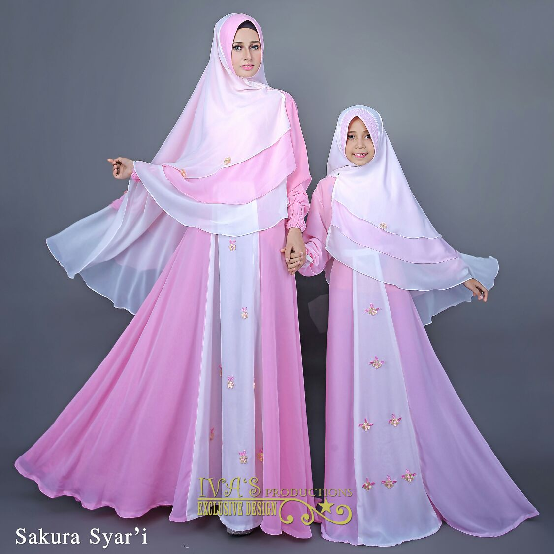 Jual Baju Hijab Couple Ibu Dan Anak Sakura Couple By Iva 39 S