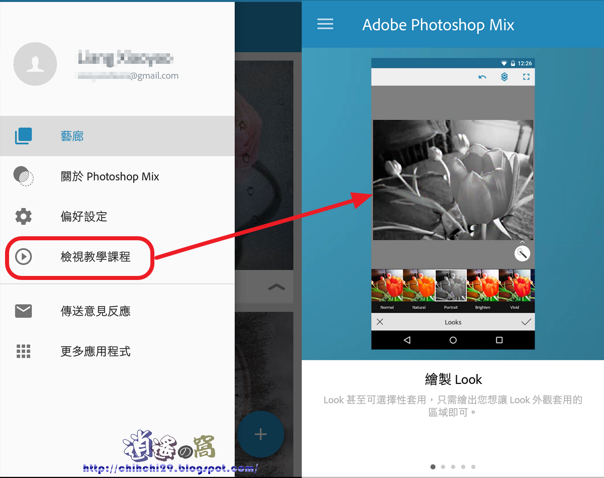 Adobe Photoshop Mix 行動裝置影像編輯