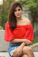 Rhea Chakraborty in Red Crop Top and Denim Shorts Spicy Pics ~  Exclusive 013.JPG