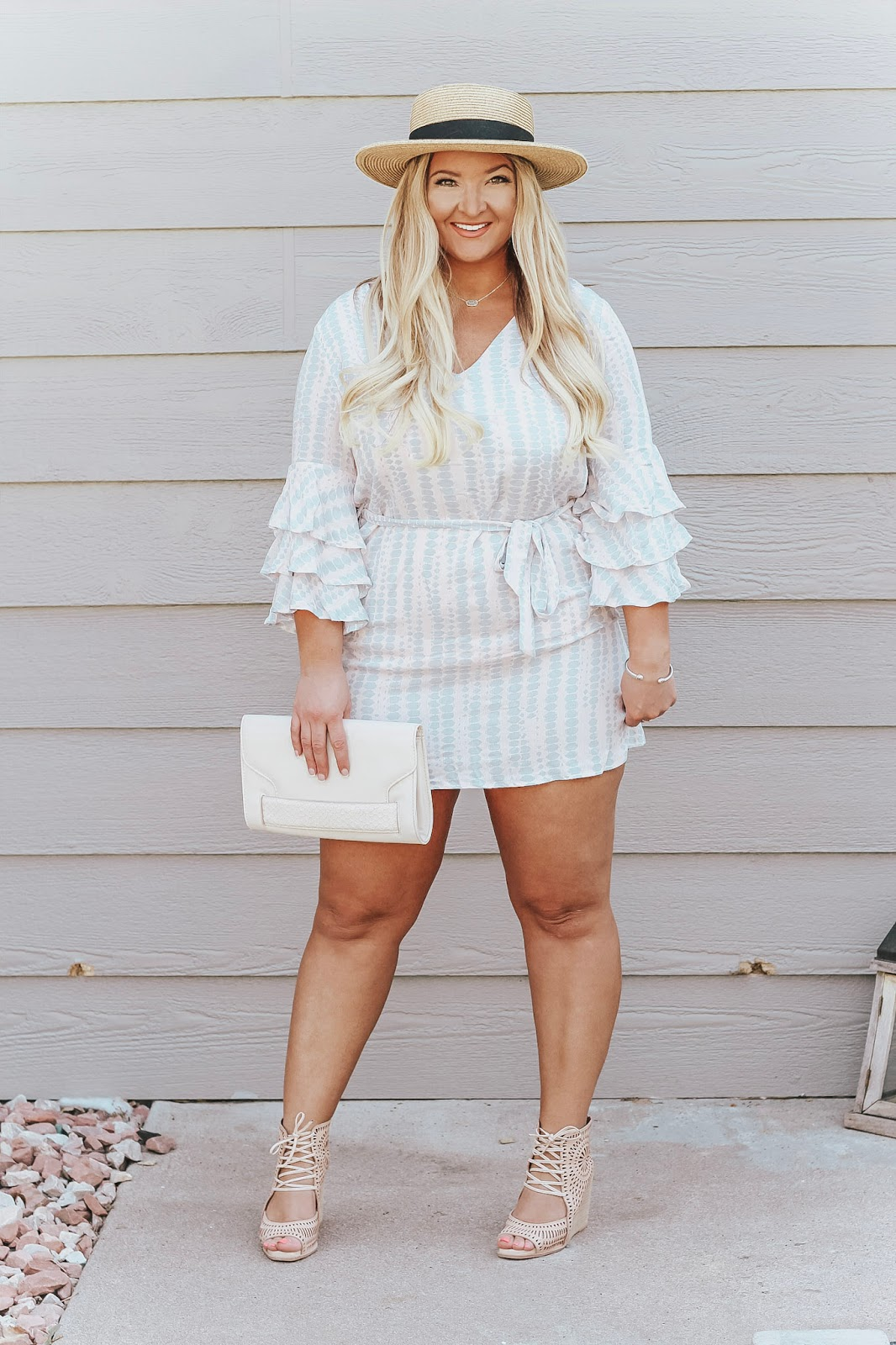 Pink, White & Blue 4th of July Outfit Idea featured by popular Denver fashion blogger, Delayna Denaye