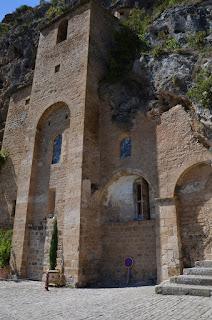 Peyre. Església troglodita de Saint-Christophe