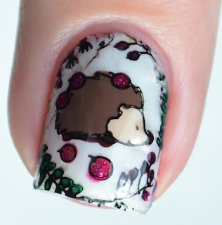 forest animal nail art