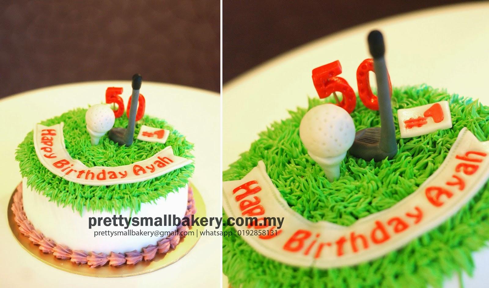 Kek Harijadi Untuk Golfer Prettysmallbakery