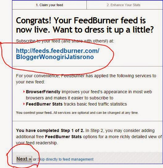cara daftar feedburner