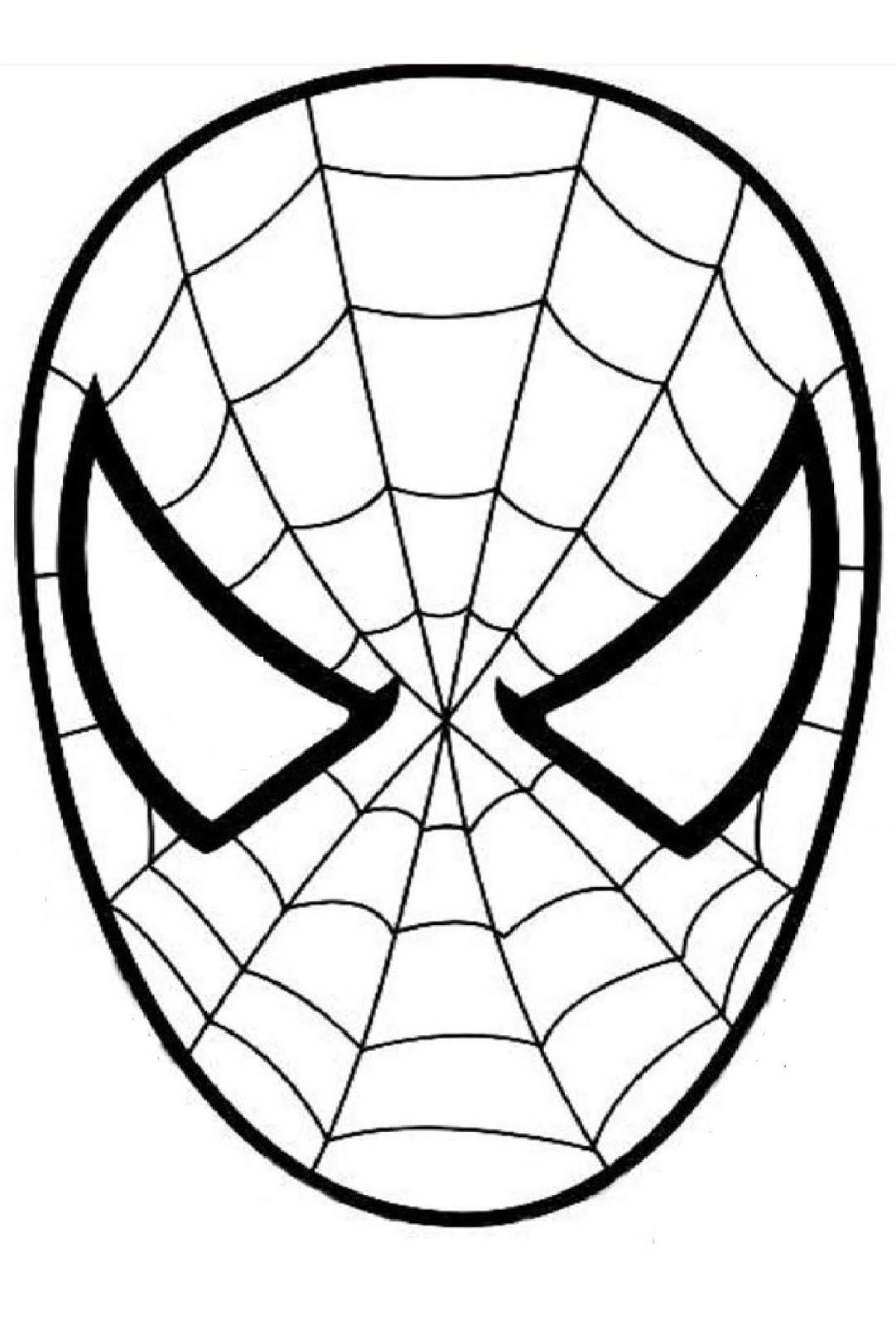 Tranh tô màu mặt nạ của người nhện