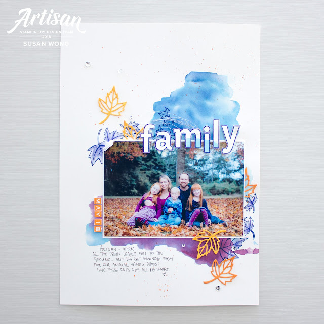 Stampin' Up! Color Your Season / Blended Seasons / Lined & Labeler Alphabet - A4 layout by Susan Wong, Artisan Design Team Member