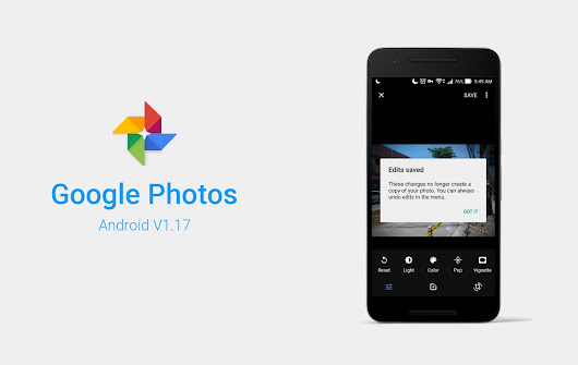 Google Photos for Android adds Non-Destructive Editing