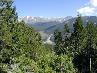 Roaring River Alluvial Fan in distance, photo taken on Trail Ridge Road, Rocky Mountain N.P.