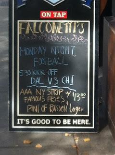 Falconetti's Signboard