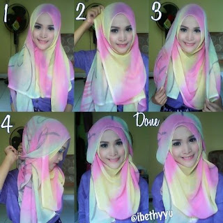 Tutorial hijab pashmina simple tanpa ninja untuk kuliah