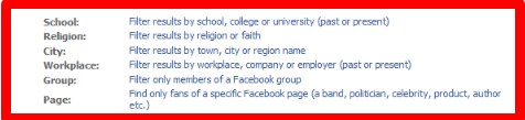 find someone on facebook by school