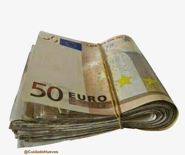 SUELDO DOBLADO EUROS dinero money humor