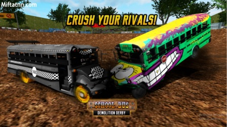 Game Balap Bus Android School Bus Demolition Derby MOD APK