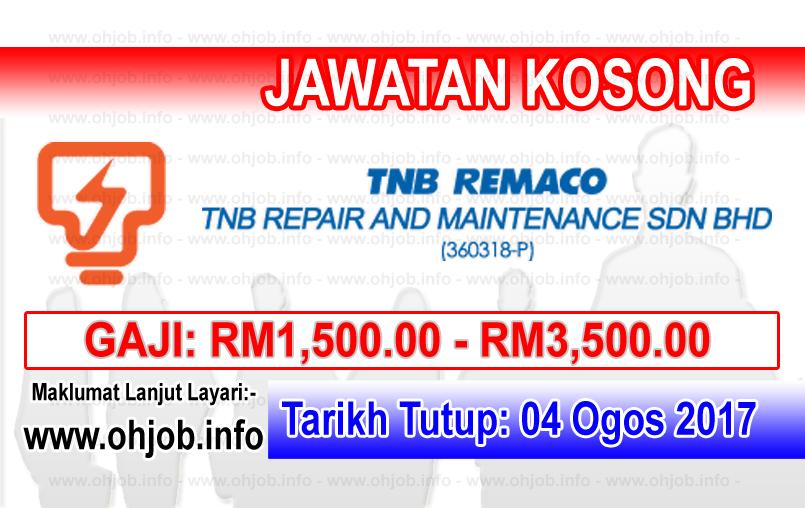 Jawatan Kerja Kosong TNB Repair and Maintenance Sdn Bhd logo www.ohjob.info ogos 2017