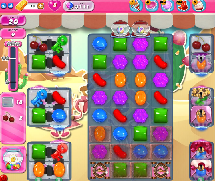 Candy Crush Saga level 2141