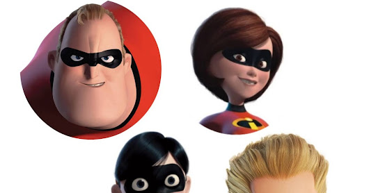 Free Incredibles 2 cupcake toppers printables