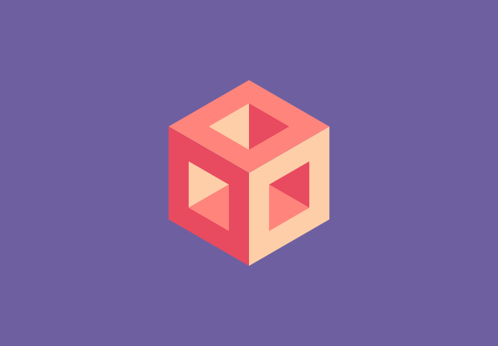 Flat geometry cube