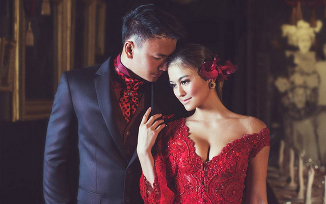 Foto Pre Wedding Agnes Monica dan Wijaya Saputra